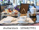 afternoon tea set | Shutterstock . vector #1056827951
