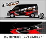 modern vehicle graphic kit....   Shutterstock .eps vector #1056828887