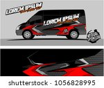 modern vehicle graphic kit.... | Shutterstock .eps vector #1056828995