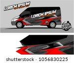 van graphic kit. abstract...   Shutterstock .eps vector #1056830225
