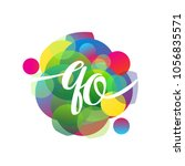 letter qo logo with colorful... | Shutterstock .eps vector #1056835571