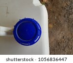 dirty white plastic gallon with ... | Shutterstock . vector #1056836447