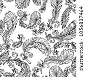 vector seamless pattern with... | Shutterstock .eps vector #1056837464