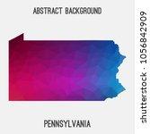 pennsylvania map in geometric... | Shutterstock .eps vector #1056842909