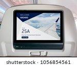 in flight entertainment screen  ...   Shutterstock . vector #1056854561
