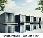 container house on lake resort  ... | Shutterstock . vector #1056856454