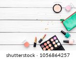 beauty set with decorative... | Shutterstock . vector #1056864257