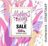 template design sale banner for ... | Shutterstock .eps vector #1056872669