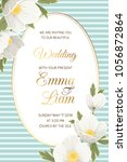 wedding event invitation card... | Shutterstock .eps vector #1056872864