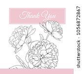 peony rose spring flowers... | Shutterstock .eps vector #1056872867