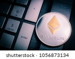 ethereum cryptocurrency  crypto ... | Shutterstock . vector #1056873134
