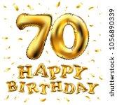 vector happy birthday 70th... | Shutterstock .eps vector #1056890339
