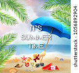 it's summer time background... | Shutterstock .eps vector #1056892904