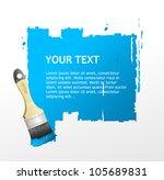 brush speech bubble | Shutterstock .eps vector #105689831