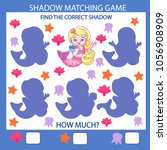shadow matching game. find the... | Shutterstock .eps vector #1056908909