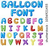 balloon font design for english ... | Shutterstock .eps vector #1056921455
