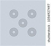 optical illusion effect  op art ... | Shutterstock .eps vector #1056927497
