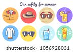 sun safety for summer poster... | Shutterstock .eps vector #1056928031