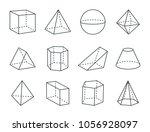 geometric prism set  varied... | Shutterstock .eps vector #1056928097