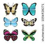 butterflies types collection... | Shutterstock .eps vector #1056928271