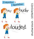 comparatives and superlatives...   Shutterstock .eps vector #1056931421