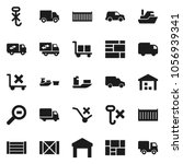 flat vector icon set   ship... | Shutterstock .eps vector #1056939341
