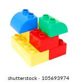 plastic building blocks... | Shutterstock . vector #105693974