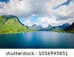moorea landscape  french... | Shutterstock . vector #1056945851