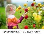 cute little girl playing in... | Shutterstock . vector #1056947294