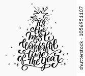 vector christmas tree of... | Shutterstock .eps vector #1056951107