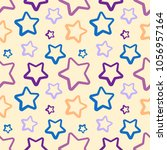 funny colorful stars vector...   Shutterstock .eps vector #1056957164