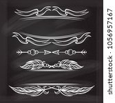 vector decorative elements set... | Shutterstock .eps vector #1056957167
