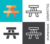 picnic table icons 2018 | Shutterstock .eps vector #1056957731