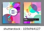 sets of abstract geometric... | Shutterstock .eps vector #1056964127