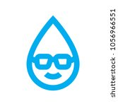 smart water use icon. wise... | Shutterstock .eps vector #1056966551