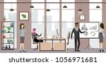group of business people or... | Shutterstock .eps vector #1056971681