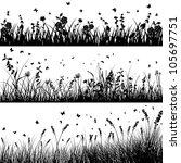 vector grass silhouette... | Shutterstock .eps vector #105697751