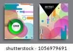sets of abstract geometric... | Shutterstock .eps vector #1056979691