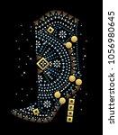 rhinestone applique print for... | Shutterstock .eps vector #1056980645