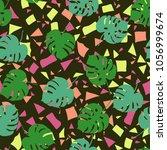 trendy simple floral pattern.... | Shutterstock .eps vector #1056999674