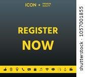 register now button | Shutterstock .eps vector #1057001855