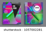sets of abstract geometric... | Shutterstock .eps vector #1057002281
