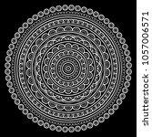 mandala pattern white good mood | Shutterstock .eps vector #1057006571