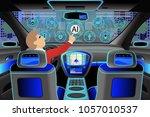 car modern interior with a... | Shutterstock .eps vector #1057010537