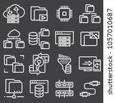 set of data organization and... | Shutterstock .eps vector #1057010687