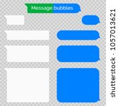 message chat bubbles vector... | Shutterstock .eps vector #1057013621