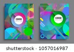 sets of abstract geometric... | Shutterstock .eps vector #1057016987