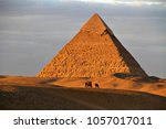 the ancient egyptian pyramid of ... | Shutterstock . vector #1057017011