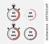 timer 31 seconds on gray... | Shutterstock .eps vector #1057021169