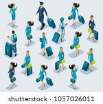 isometry recruitment of people... | Shutterstock .eps vector #1057026011